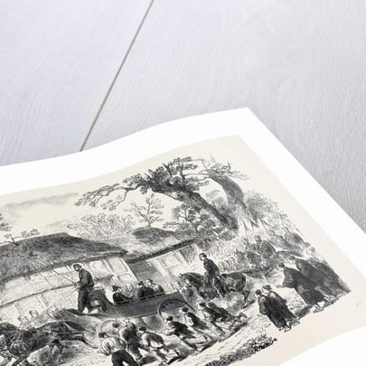 Driving the Gorogio on the Tokaido Road Yokohama Japan 1866 by Anonymous
