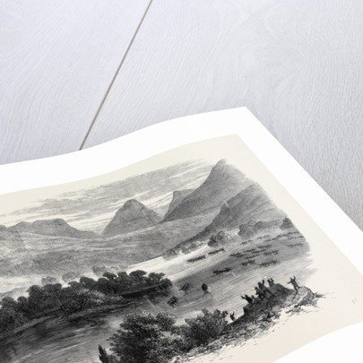 The Queen's Visit to Ireland: The Royal Barge Proceeding Through the Upper Lake of Killarney to Derricunihy Cascade Sketched from the Kenmare Road by Anonymous