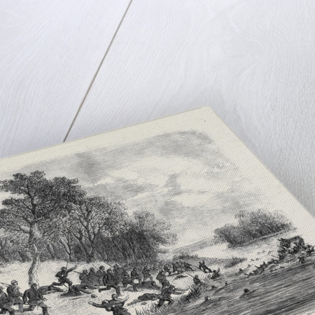 The Civil War in America: Retreat of the Federalists after the Fight at Ball's Bluff Upper Potomac Virginia by Anonymous