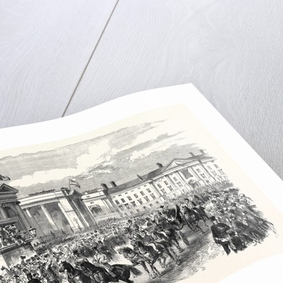 Visit of the Prince and Princess of Wales to Ireland: The Royal Procession Passing College Green Dublin 1868 by Anonymous