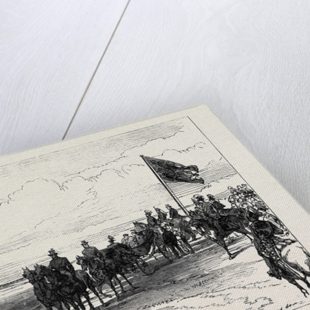 Visit of the Prince and Princess of Wales to Ireland: Review in Phoenix Park: The 12th Lancers Galloping Past 1868 by Anonymous