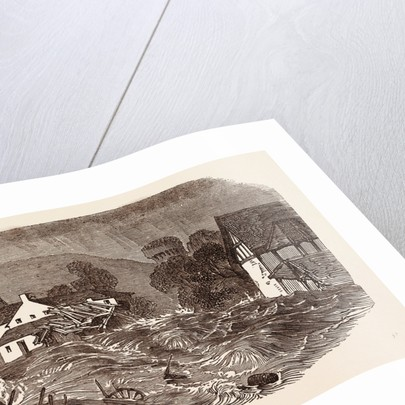 Great Flood at Brecon, South Wales, July 9, 1853 by Anonymous