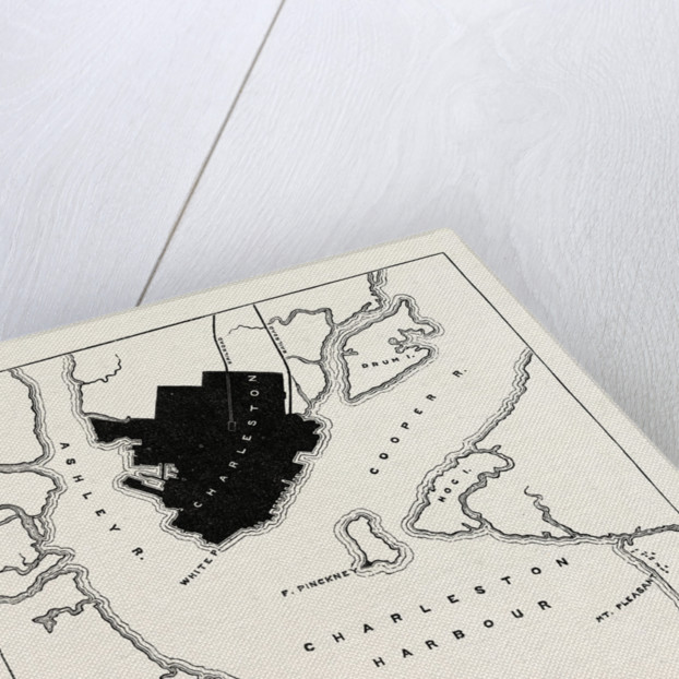 Plan of Forts and Harbour at Charleston by Anonymous