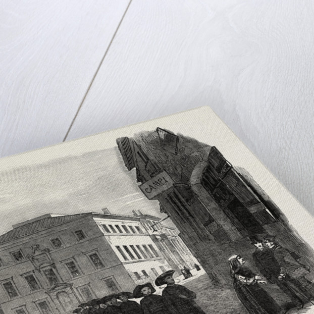 College of the Propaganda at Rome, Sketched from the Piazza Di Spagna, Italy by Anonymous