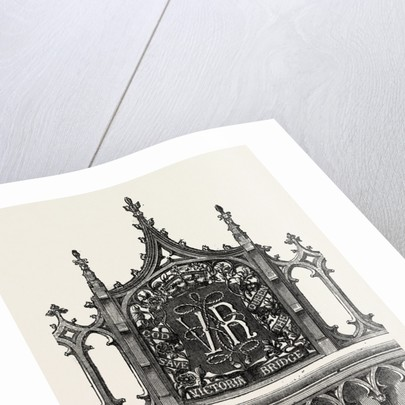 Decorative Panel of the Victoria Bridge, Windsor by Anonymous