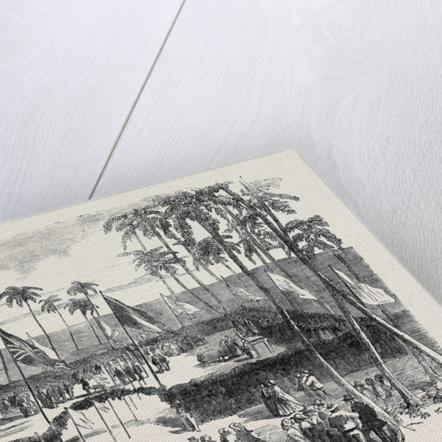 Commencement of the Pernambuco Railway, on the Island of Nogueira by Anonymous