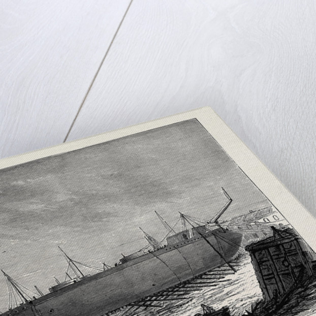 The Attempt to Launch the Ironclad Independencia Built for the Brazilian Government, August 15, 1874 by Anonymous