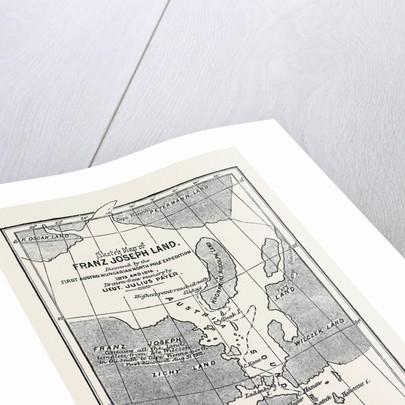 The Austrian Polar Expedition, Map of Franz Joseph Land, Discovered by Messrs. Payer and Weyprecht by Anonymous