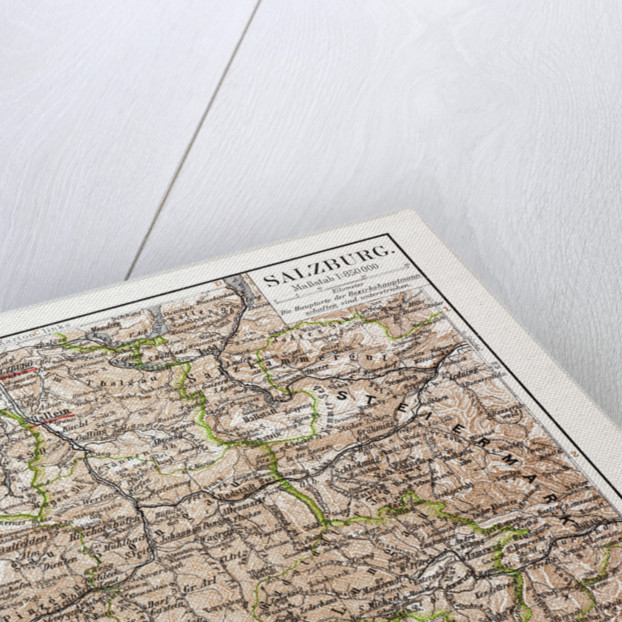 Map of Salzburg Austria 1899 by Anonymous