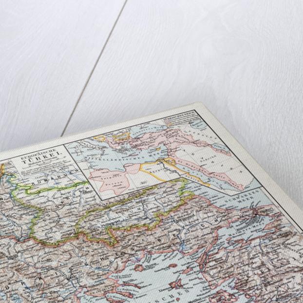 Map of Montenegro Serbia Macedonia Northern Greece Bulgaria Albania Western Turkey 1899 by Anonymous