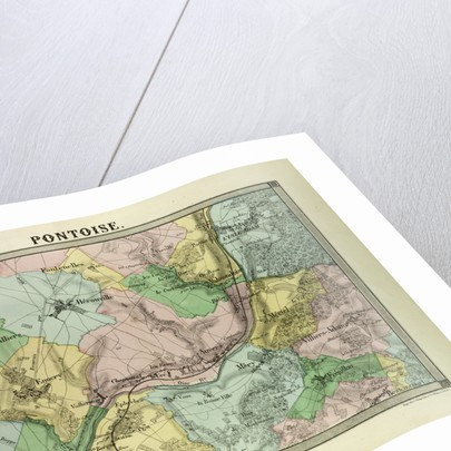 Map of Pontoise France by Anonymous