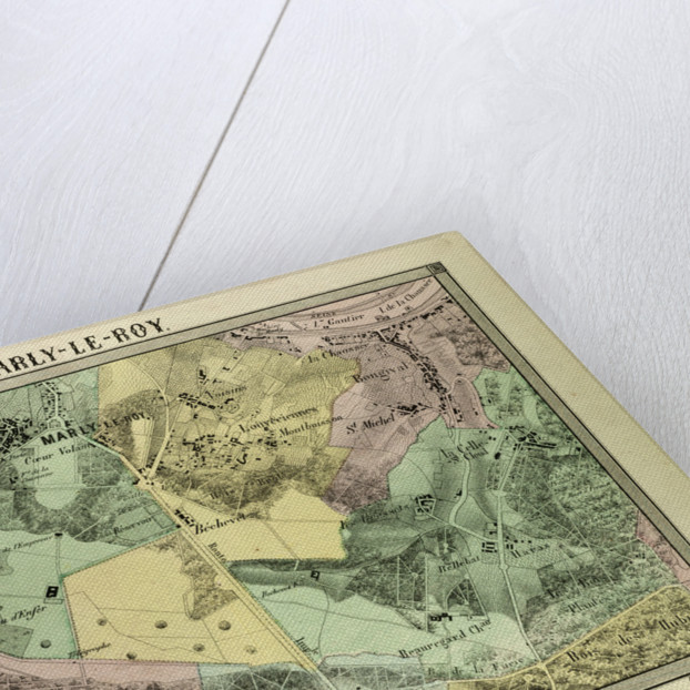Map of Marly-Le-Roy France by Anonymous
