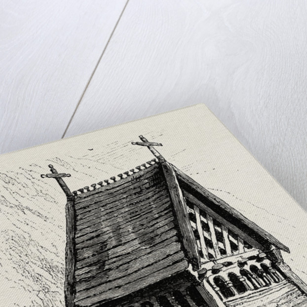 Bell-Tower, Borgund Church by Anonymous