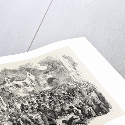 The 5th (French) Regiment of the Line Passing Through the Porte Des Dunes on Their Way to the Camp of Boulogne 1854 by Anonymous