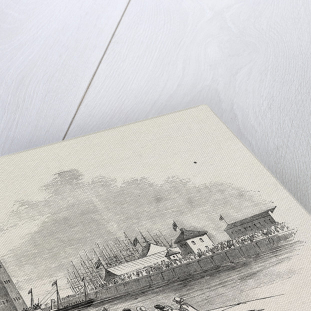 Her Majesty's Visit to Hull and Grimsby: The Fairy Steamer Entering Grimsby Dock 1854 by Anonymous