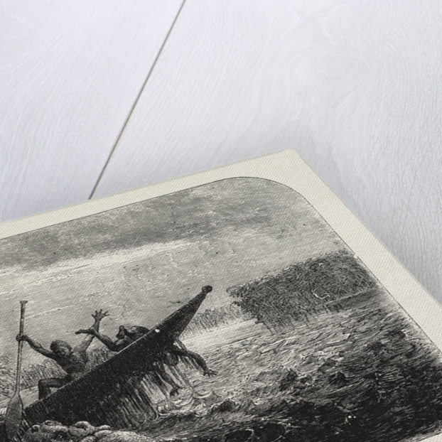 Dr Livingstone's Missionary Travels and Researchers in South Africa: Boat Capsized by a Hippopotamus Robbed of Her Young, 1857 by Anonymous