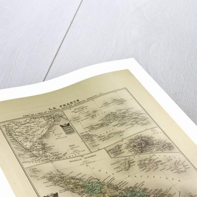 Map of India New Caledonia Tahiti Tuamotu Archipelago Marquesas Islands 1896 by Anonymous