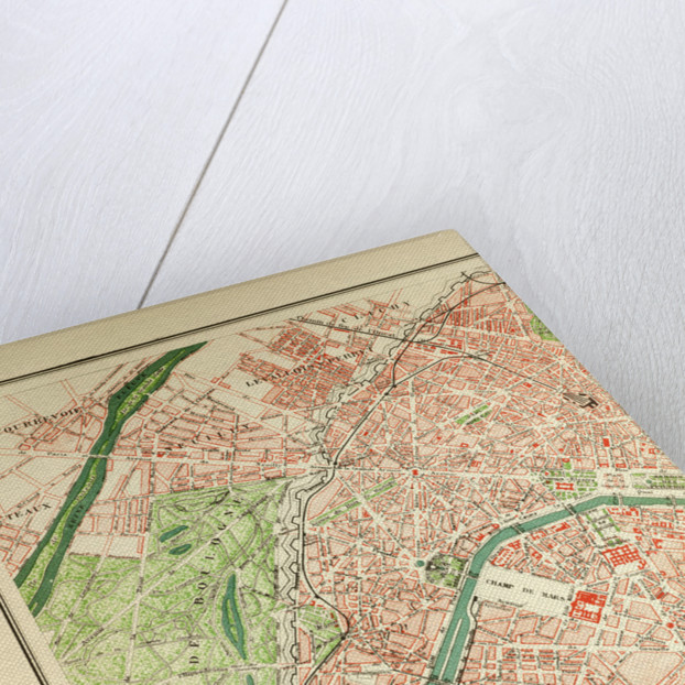 Map of Paris by Anonymous