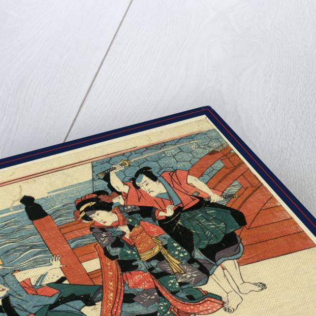 Sandanme, Act three of the Chushingura by Utagawa Kuniyasu