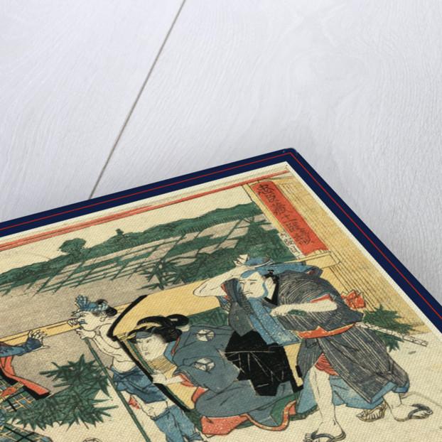 Rokudanme, Act six of the Chushingura by Utagawa Kuniyasu