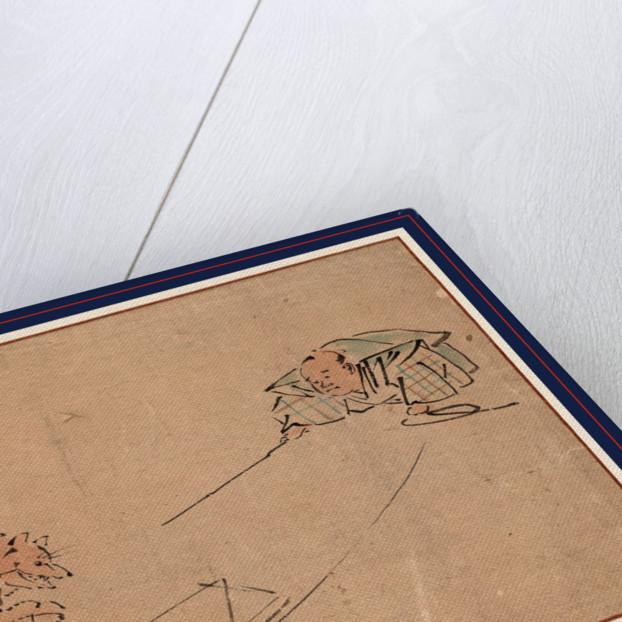 Tsuri gitsune, The Kyogen performance Tsurigitsune by Kawanabe Gyosai