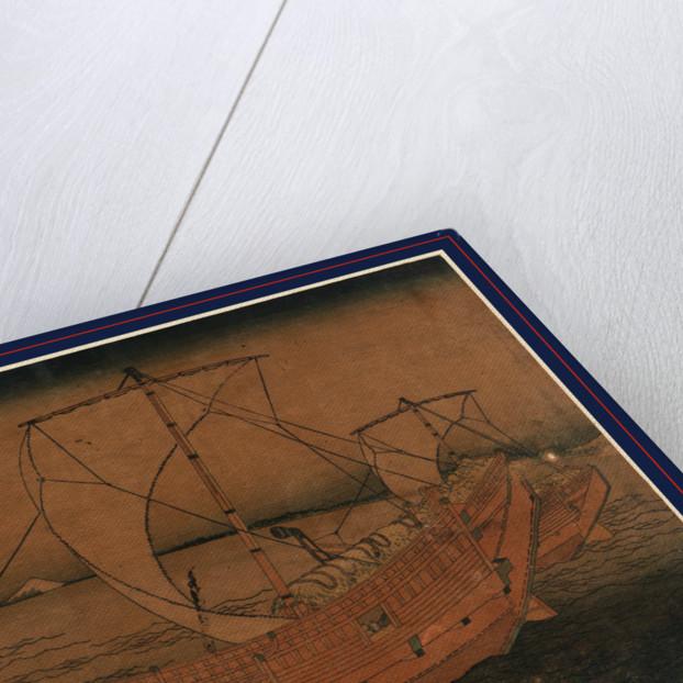 Kazusa no kairo, Sailing off of Kazusa by Katsushika Hokusai