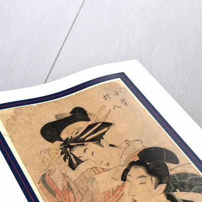 Komurasaki and Gonpachi by Utamaro II