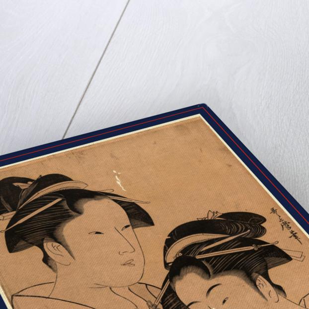Kagiya osen to takashima ohisa, Osen of Kagiya and Ohisa of Takashima by Kitagawa Utamaro