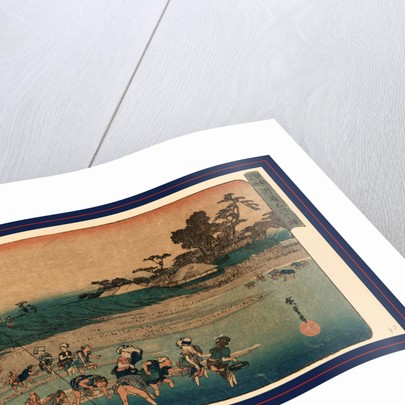 Susaki shiohigari, Salt gathering at Suzaki by Ando Hiroshige