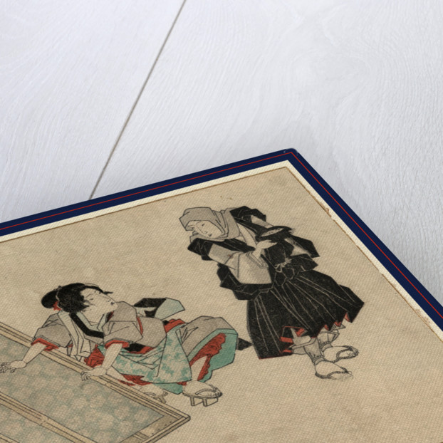 Takuhatsuso to araihari wo suru onna, Washing clothes by Anonymous