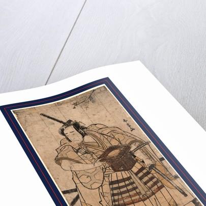 Onoe matsusuke no raiko sitenno, The actor Onoe Matsusuke in the role of Raiko Shitenno (Minamoto Yorimitsu) by Katsukawa Shunjo