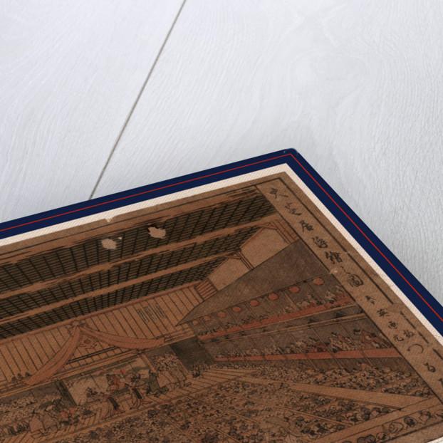 Oshibai ukie no zu, A perspective view of the Grant Theater by Katsukawa Shunsen