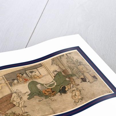 Daikagura, Lion dance of a Daikagura performance by Kitagawa Utamaro