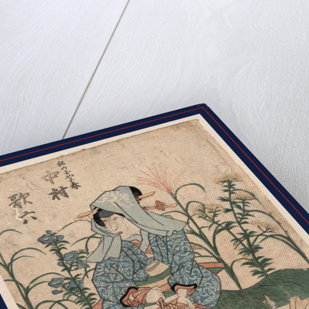 Nakamura karoku no kinokuniya koharu, The actor Nakamura Karoku in the role of Kinokuniya Koharu by Utagawa Toyokuni