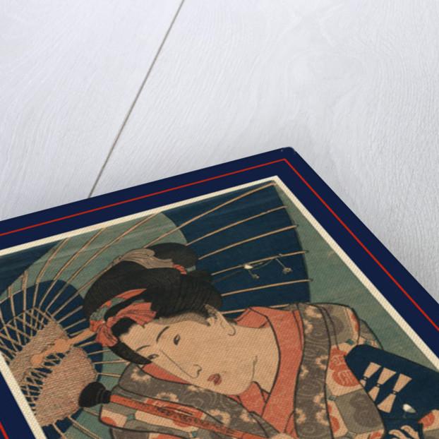 Nagauta No Keiko Ni Kayou Musume, Young Lady Going to Her Nagauta Music Lessons by Anonymous
