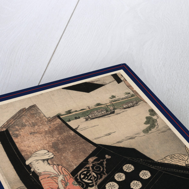 Senjo no sarumawashi, Sarumawashi performance on a boat by Hosoda Eishi
