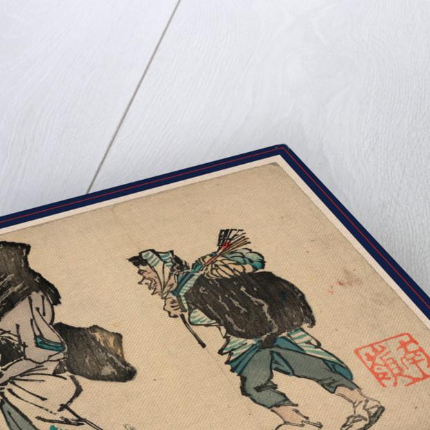 Tori no machi no kaimono, Tori no ichi shopping at the marketplace by Suzuki Nanrei