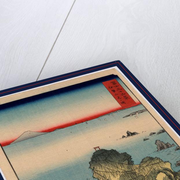 Ise futamigaura, Futamigaura in Ise Province by Ando Hiroshige