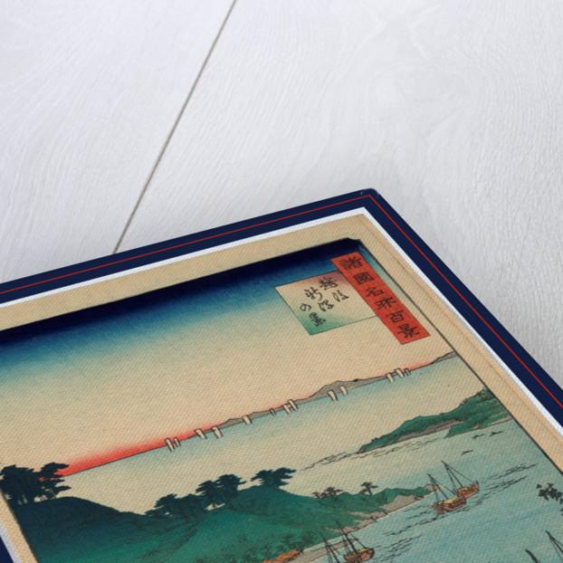 Echigo niigata no kei, View of Niigata in Echigo Province by Utagawa Hiroshige
