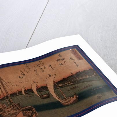 Takanawa no kihan, Returning sails at Takanawa by Ando Hiroshige