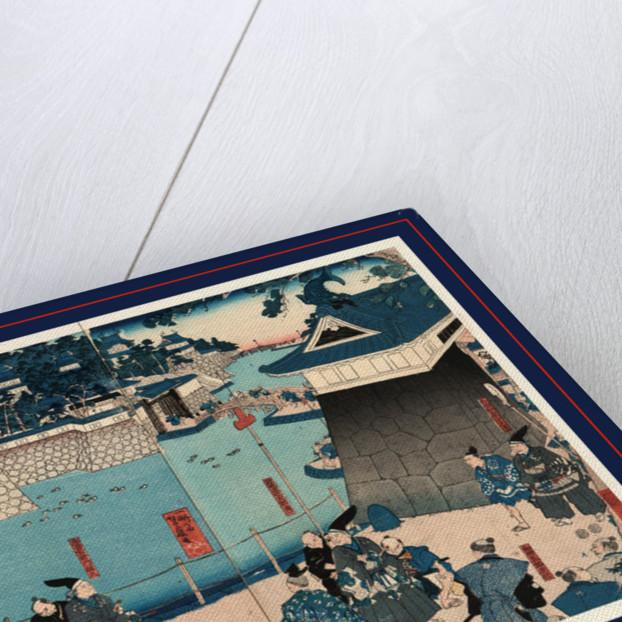 Kusunoki masashige chihayajo rojo no zu, On the road, Kusunoki, Masashi passing by or barricading himself into Chihaya Castle by Utagawa Yoshifuji