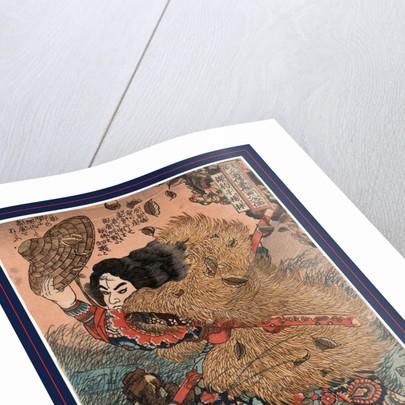 Kinhyoshi yorin, hero of the Suikode by Utagawa Kuniyoshi