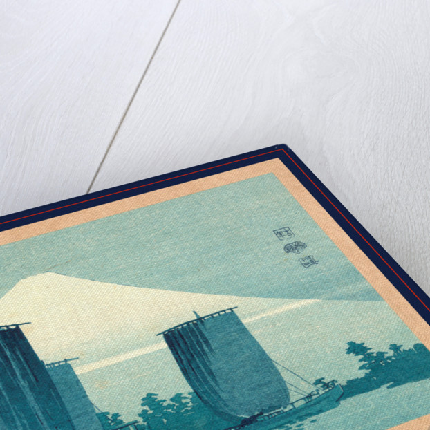 Fuji ni hansen, Sailboats and Mount Fuji by Uehara Konen