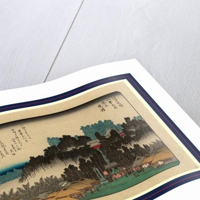 Ikegami no bansho, Evening bell at Ikegami by Ando Hiroshige