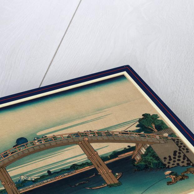 Fukagawa mannenbashi shita, Beneath Mannen Bridge, Fukagawa by Katsushika Hokusai
