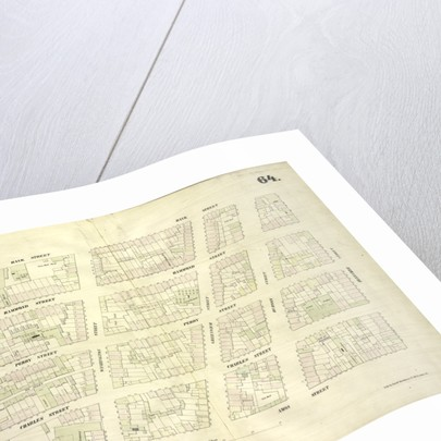 Map bounded by Bank Street, Bleecker Street, Amos Street, West Street, New York by Anonymous