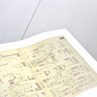 Map bounded by West 42nd Street, Eighth Avenue, West 37th Street, Tenth Avenue, New York by Anonymous