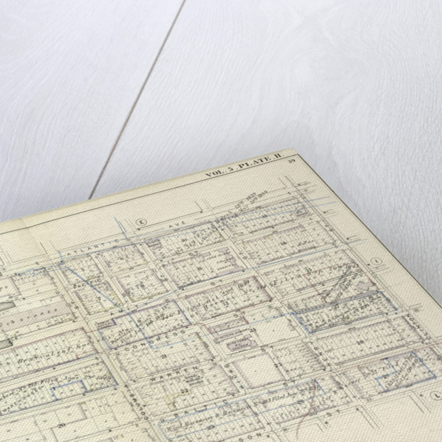 Map bound by Atlantic Ave., Clinton St., Harrison St., East River; Including Pacific St., Amity St., Congress St., Verandan Pl., Warren St., Baltic St., Columbia St., Hicks St., Henry St., New York by Anonymous