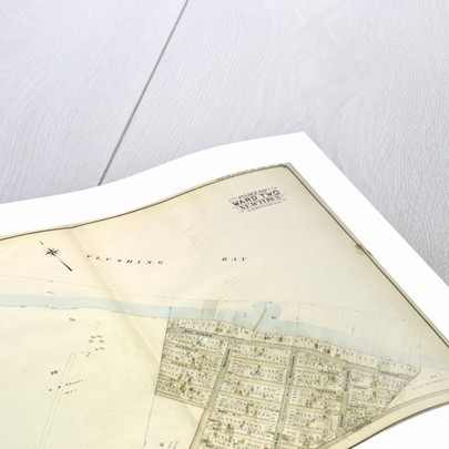 Map bounded by Flushing Bay, Bay Shore Terrace, Harbour PL; Including Sound View PL., Astoria and Flushing Turnpike, Old Bowery Road, Jackson's Creek, New York by Anonymous