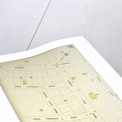 Map bounded by Seaman Ave., W. 219th St., Broadway, New York by Anonymous